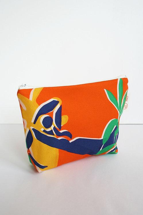 Orange Eden Make up Bag