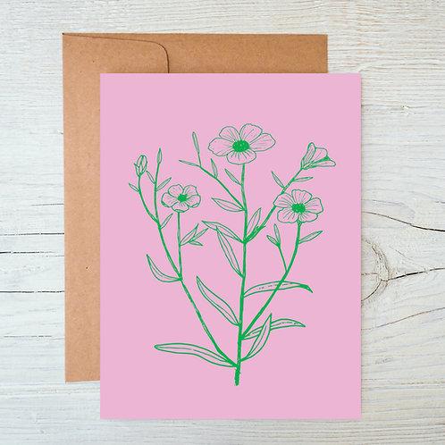 Flowers A6 Blank Card