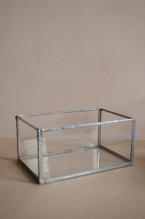 Clear Glass Trinket Box