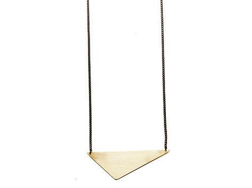 Brass Triangle Pendant Necklace