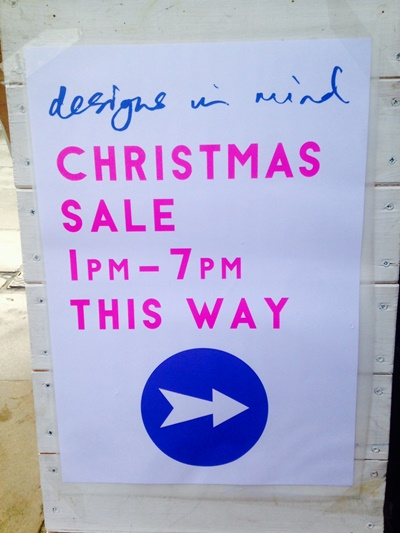 Designs in Mind Sale Board