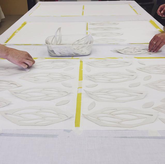 Screen Printing Laying Design Prisms Design