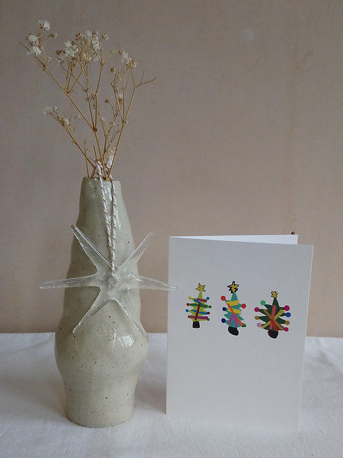 Christmas Tree A6 Blank Card