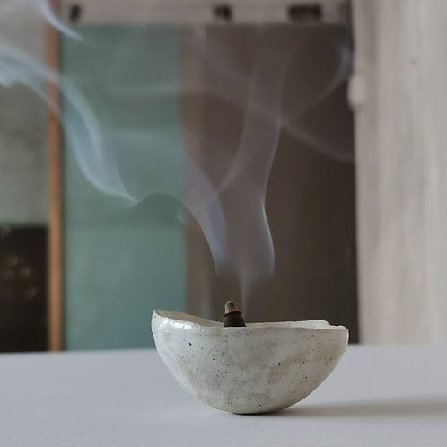 Stoneware Incense Pinch Pot