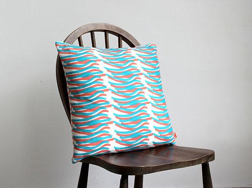 Cushion Lustre Design Turquoise