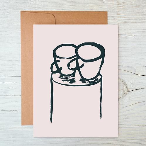 Cups A6 Blank Card