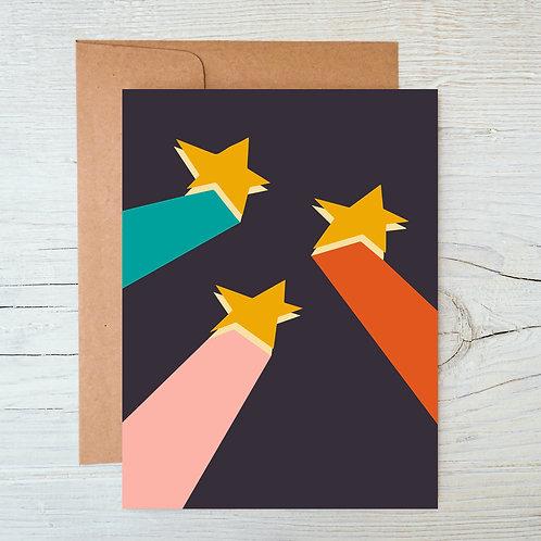 Shooting Stars A6 Blank Card