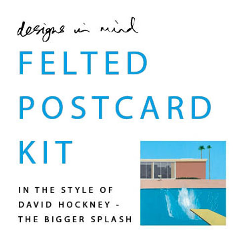 Felted Postcard Kit - David Hockney, The Bigger Splash