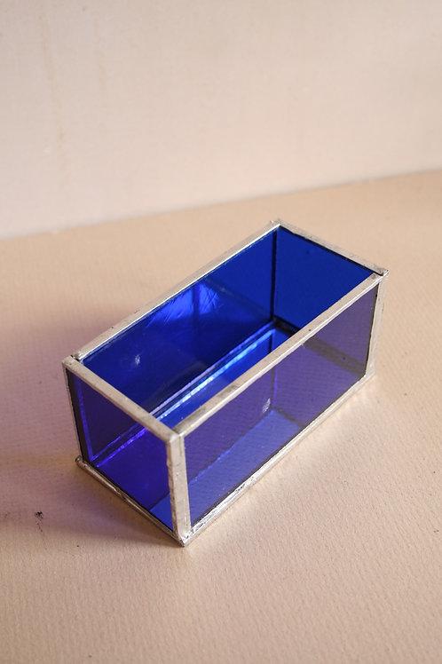 Coloured Glass Trinket Box