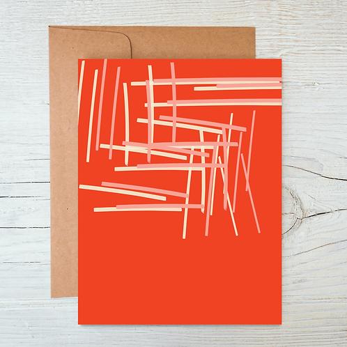 Reverse Chopsticks A6 Blank Card