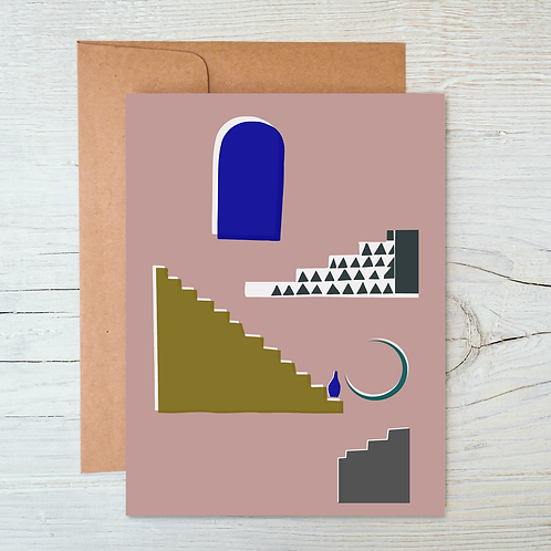 Moroccan Stairs A6 Blank Card