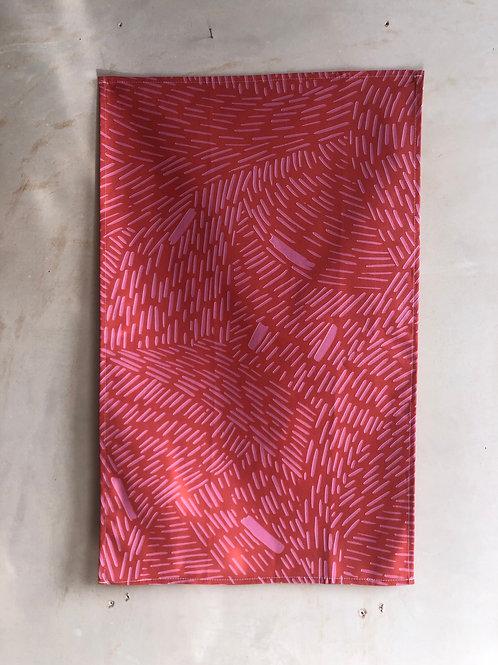 Pink Rain Tea Towel