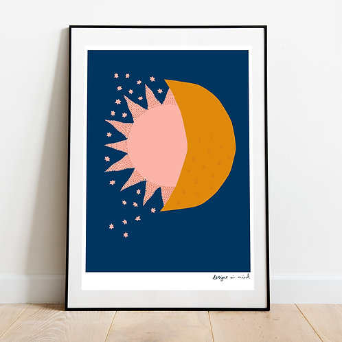 A3 Print - Eclipse, Starry Night Collection