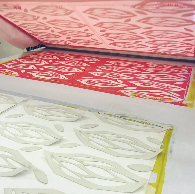 Screen Printing Reveal Prisms Design