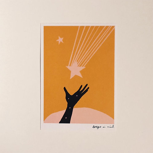 A6 Print- Catch a Falling Star, Starry Night Collection