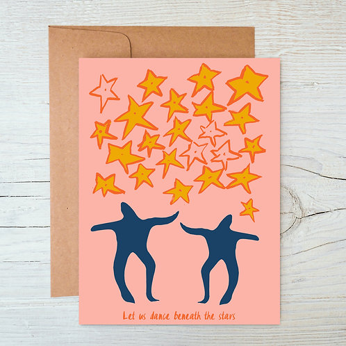 Dance beneath the stars A6 Blank Card