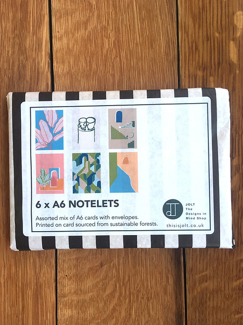 Pack of 6 - A6 Cards