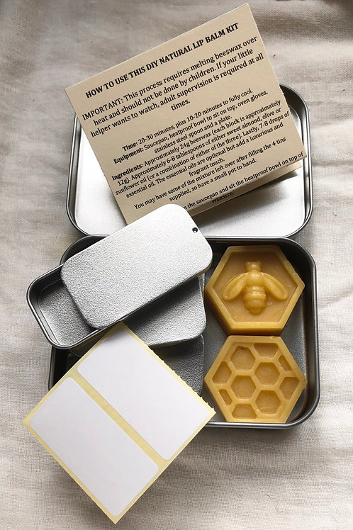 Beeswax Lip Balm Kit | DIY Natural Lip Balm Kit