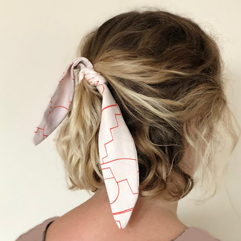 Short Printed Hair Tie