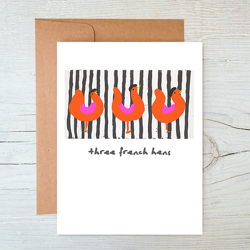 3 French Hens Card