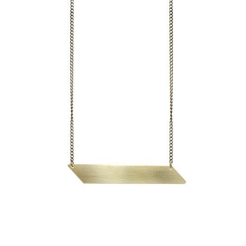 Brass Alexandra Pendant Necklace