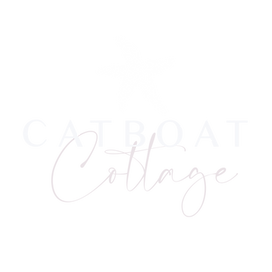 Blue starfish with Catboat Cottage logo
