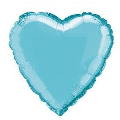 "Balloon Foil 18"" Heart Baby Blue"