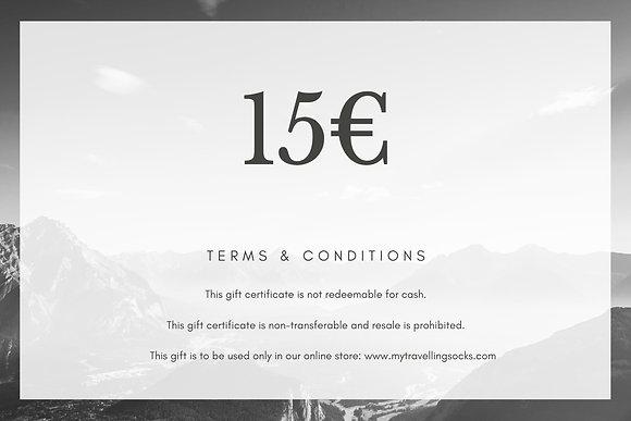 15€ Gift Card