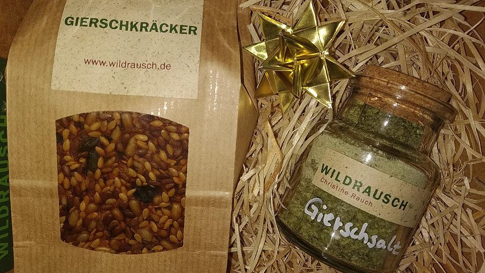 Geschenkset Gierschkräcker und -Salz wieder im Angebot, wenn der Giersch wächst!