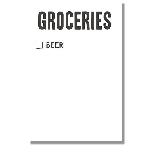 Beer Grocery Scratch Pad