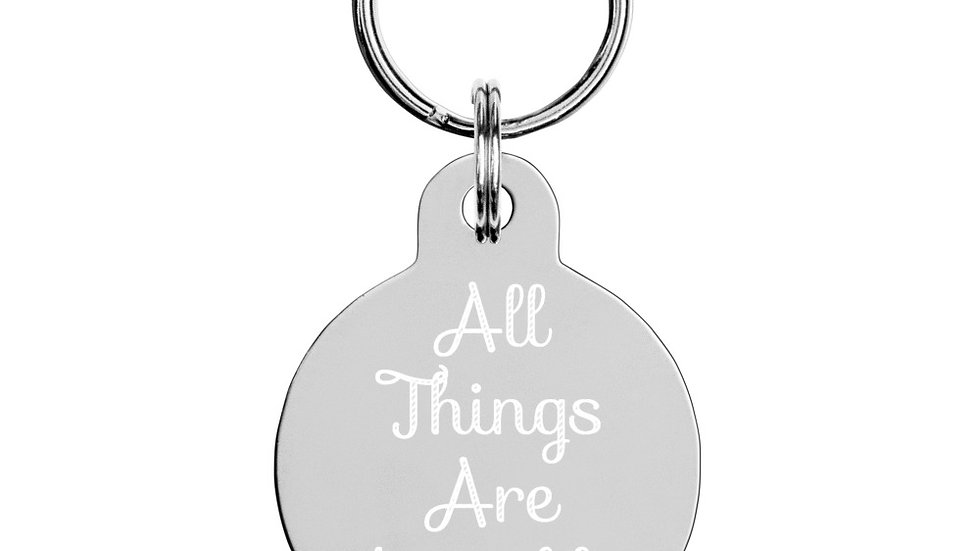 """Key chain """"All Things Are Possible Through Christ"""""""