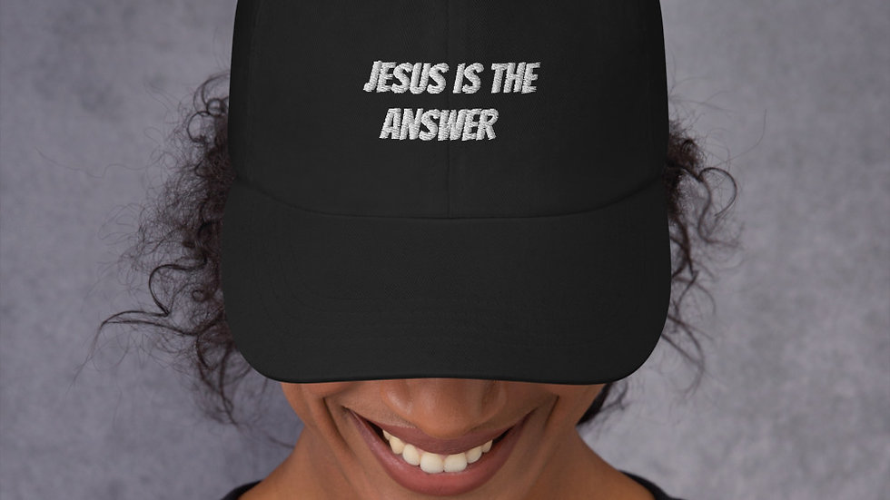"""""""Jesus is the answer"""" hat for women"""