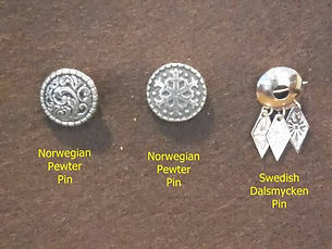 Pins-Norwegian pewter, Swedish dalsmycke