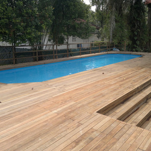 Liner Pool, Half Inground