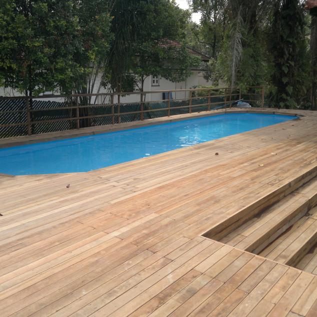 Liner Pool, Half Inground