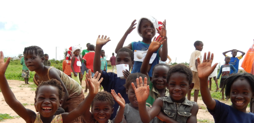 Sara tillbringade julen i Zambia