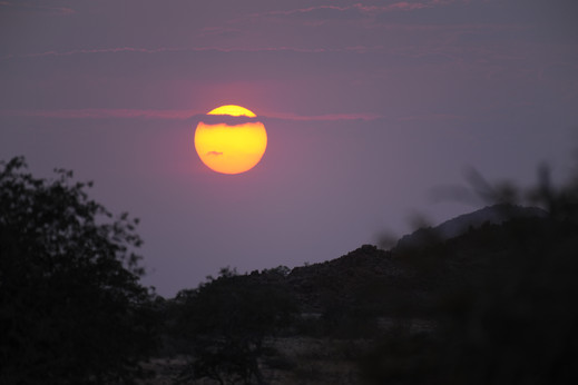 Solnedgång i Ugabdalen