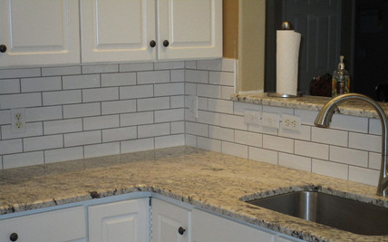 Memorable Kitchen countertops and tile