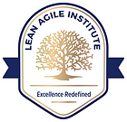 Lean Agile Institute Logo final with whi