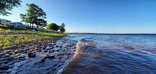 watersplashing on the beach .JPG
