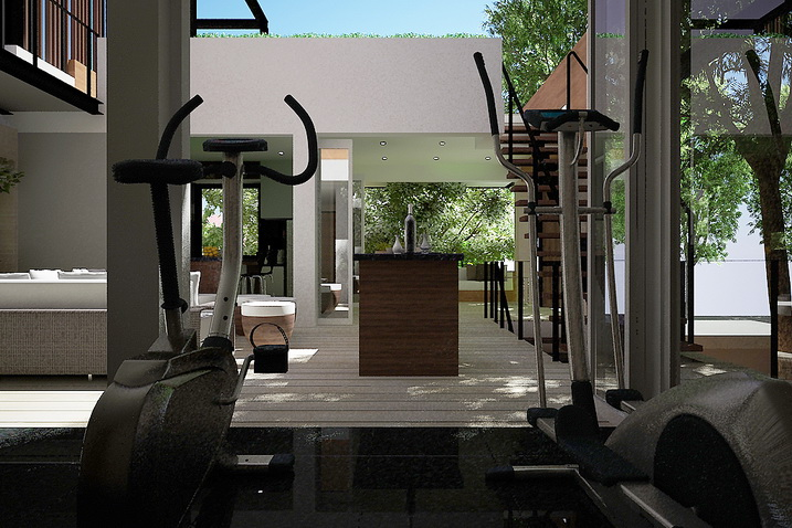Living area - Fitness