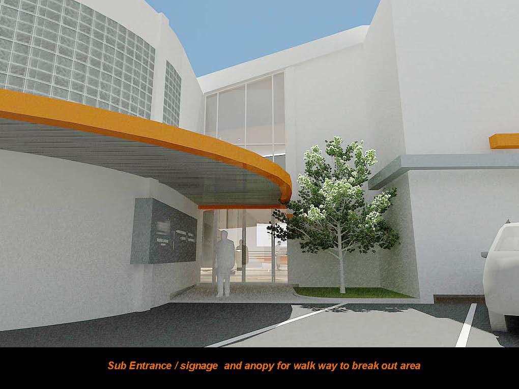 Sub-entrance, walkway