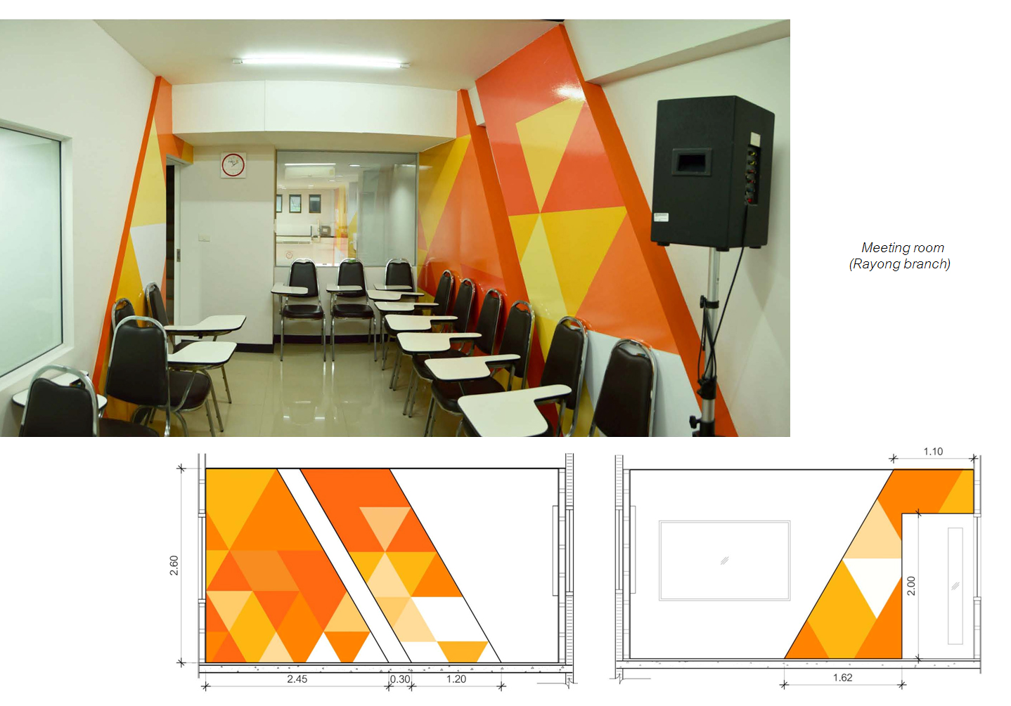 Meeting room, Graphic wall