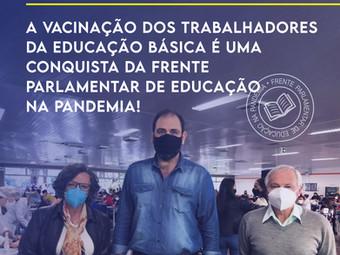 Vacinação dos profissionais da Educação é uma conquista da Frente Parlamentar
