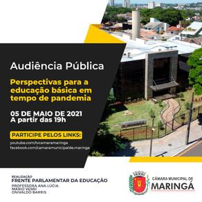 Câmara promove audiência pública sobre Educação Básica em tempo de pandemia