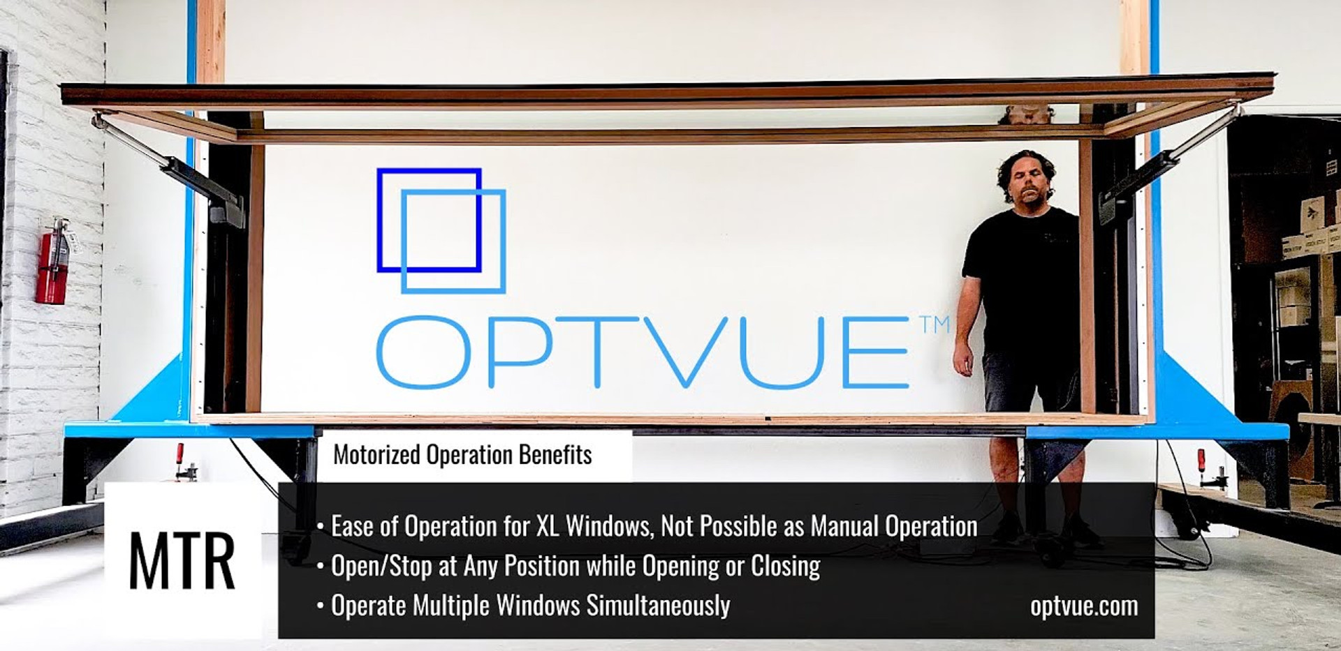 OPTVUE™ Motorized Pass Through Window