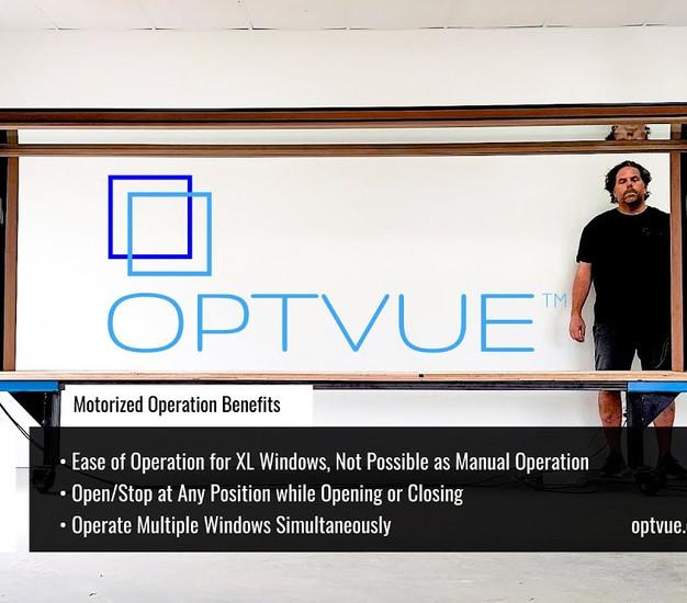 OPTVUE™ Motorized Pass Through Window