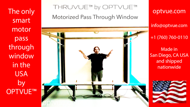 Motorized Pass Through Window