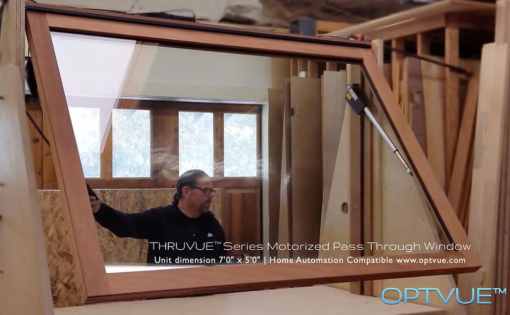 THRUVUE™ series Motorized Pass Through Window