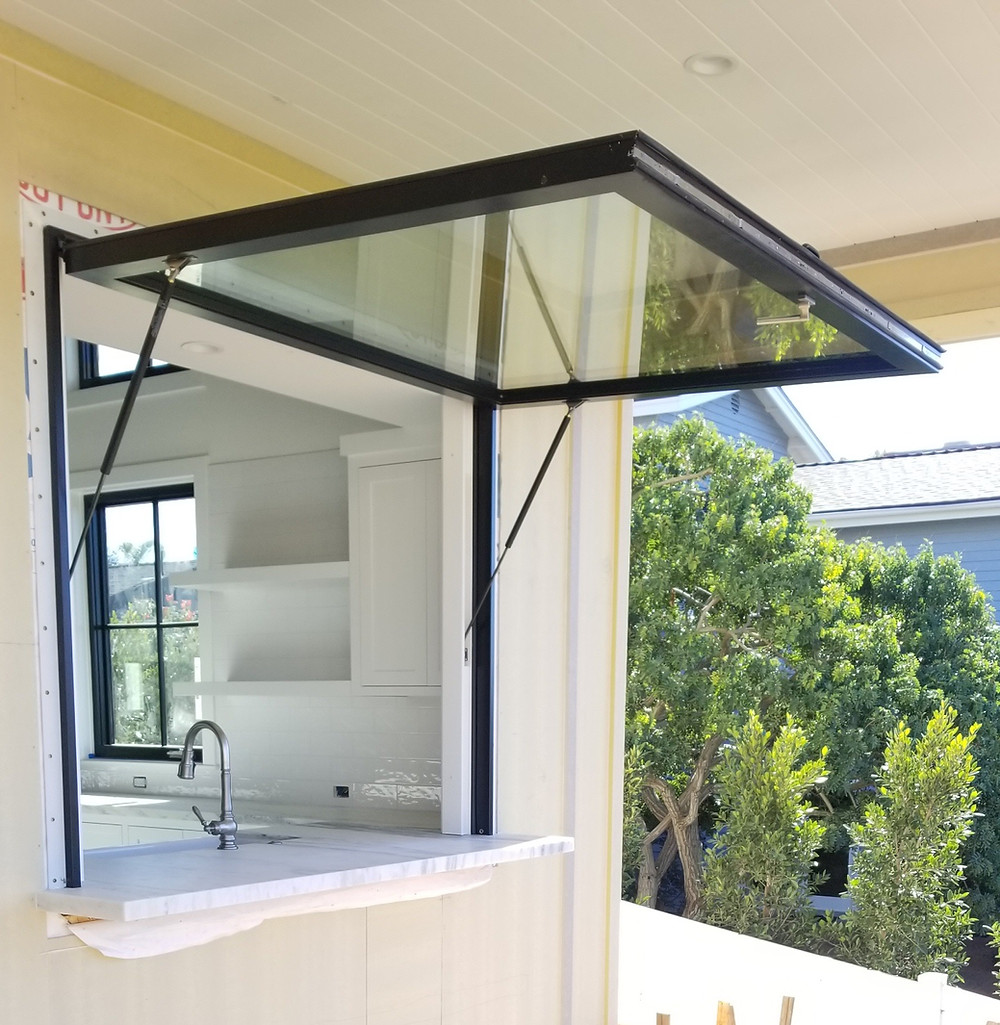 Black Aluminum Clad Pass Through Window by OPTVUE™